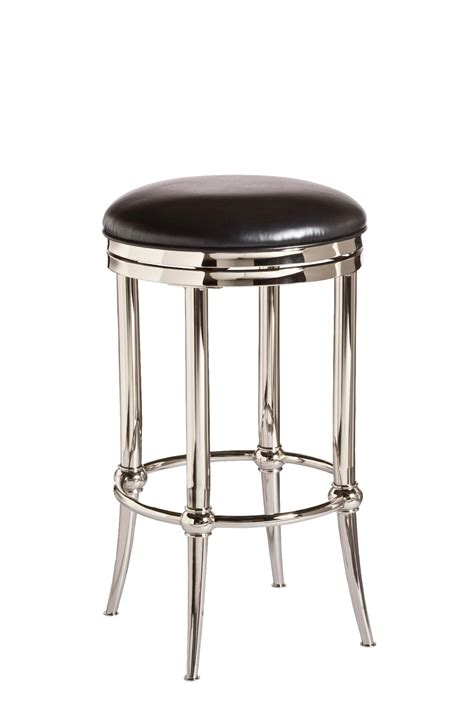 bar stools backless hillsdale cadman backless swivel counter stool with shiny 1477