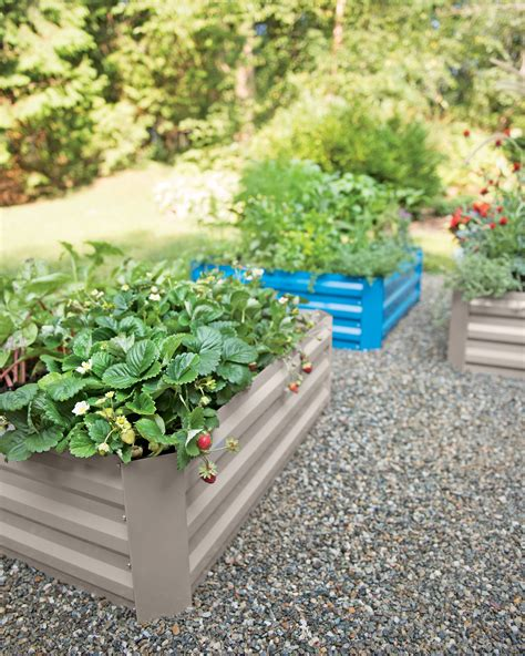 metal garden beds copper cap raised bed vegetable garden bed gardeners