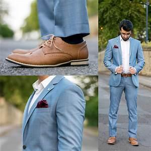 Blauer Anzug Schwarze Krawatte : gro artig blauer anzug braune schuhe hochzeit fotos brautkleider ideen ~ Frokenaadalensverden.com Haus und Dekorationen