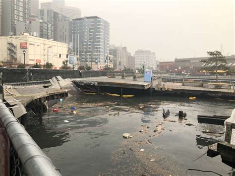 Pier 58 on Seattle waterfront collapses - SFGate