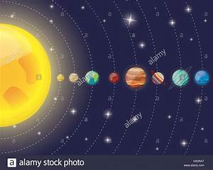solar system planets sun diagram Stock Vector Art ...