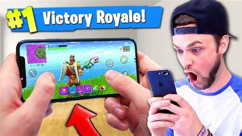 mobile fortnite battle royale gameplay victory