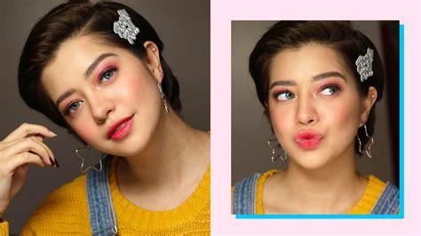 sue ramirez hairstyle  pink makeup