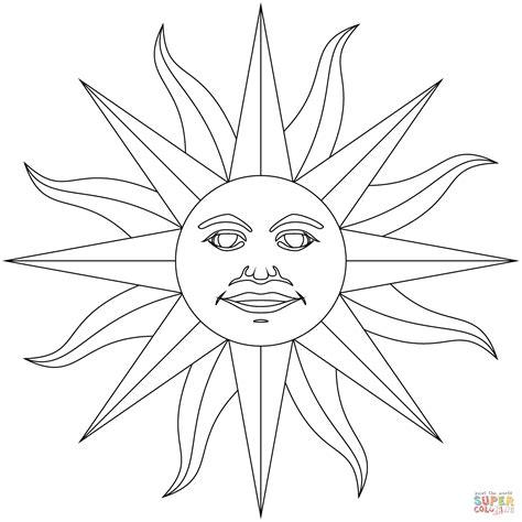 aztec sun drawing  getdrawings