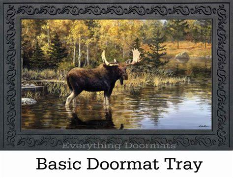 Moose Doormat by Moose Wildlife Animals Rubber Back Matmates Doormat