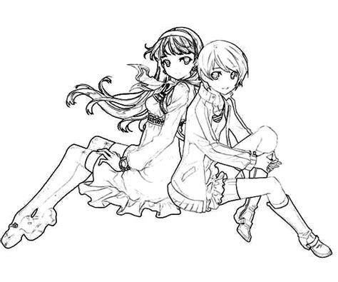 chie satonaka  friends coloring pages  place  color