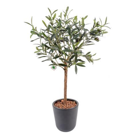 olivier plant artificiel en pot 60 cm de hauteur