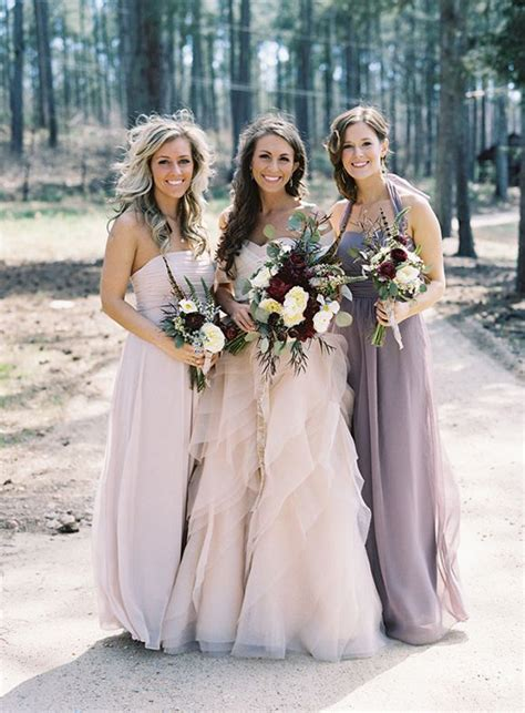 Wedding Blush Bridesmaid Dress Colors