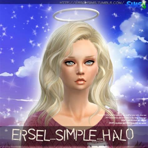 Simple Halo by Ersel at ErSch Sims » Sims 4 Updates