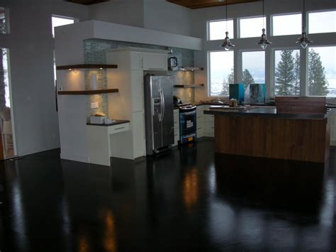 floor and decor gurnee mode concrete considering floors in the kitchen we love look of these created black acid stained