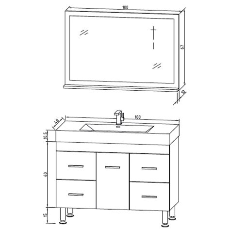 hauteur standard lavabo salle de bain meuble vasque hauteur