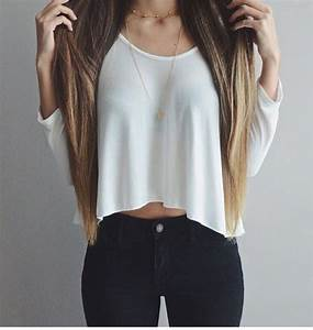blouse, shirt, white blouse, crop tops, outfit, tumblr ...