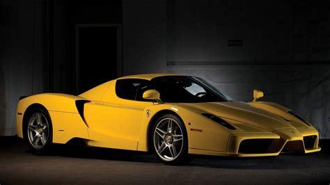 wallpaper sports car yellow cars ferrari enzo