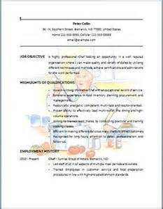 best chef resume format resume bartenders and resume on