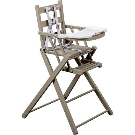 chaise haute b 233 b 233 pliante gris de combelle en vente chez cdm