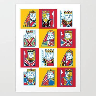 vector card game characters art print  samir taiar