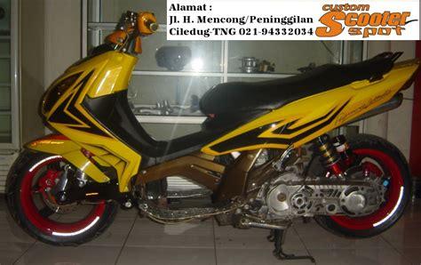 modifikasi motor matic matic drag bike yamaha nouvo lele 2002 scooter spot