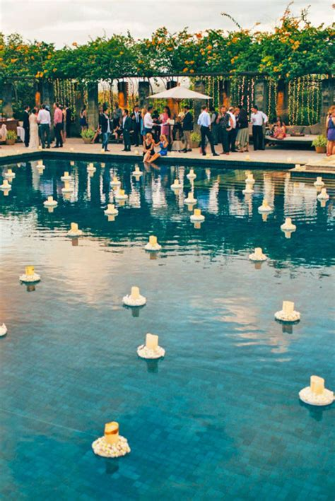 Pool Decoration by 300 Best Poolside Wedding Images On Floating