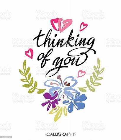 Thinking Calligraphy Vector Card Lettering Brush Ink
