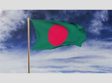 HD 1080p Clip With A Slow Motion Waving Flag Of Bangladesh