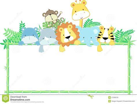 zoo animals clipart border baby jungle animals baby