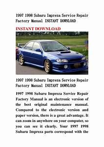 1997 1998 Subaru Impreza Service Repair Factory Manual