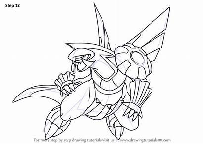 Pokemon Palkia Draw Step Drawing Anime Drawingtutorials101