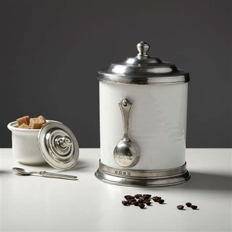 Kitchen Canisters Pewter by Cosi Tabellini Convivio Coffee Canister Pewter Ceramic