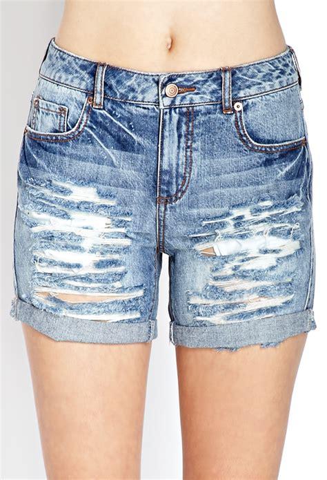 lyst   denim darling ripped shorts  blue