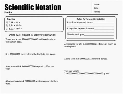 Scientific Notation Word Problems Worksheets Free Worksheets Library  Download And Print