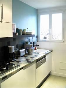 renovation et reorganisation d39un appartement classique a With plan d appartement 3d 13 cuisine leicht laquee noire