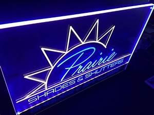 Making the Prairie Shades & Shutters LED EL Logo