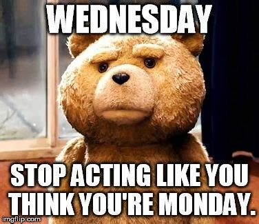 Funny Memes About Wednesday - wednesday stop acting like you think you re monday wednesday meme picsmine