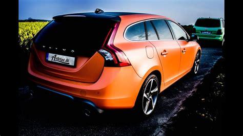 matt orange car wrap  autotintde volvo  rdesign