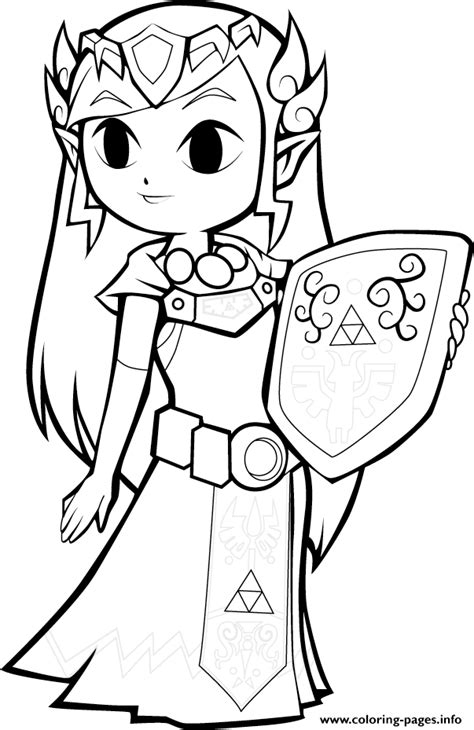 toon zelda coloring pages printable