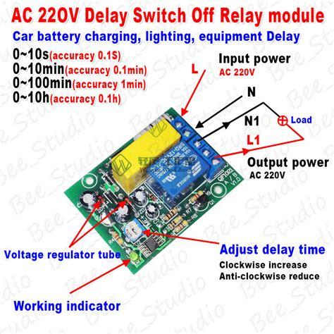 ac 220v 230v adjustable time delay turn delay timing timer time relay switch ebay