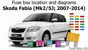 Fuse Box Location And Diagrams  Skoda Fabia  Mk2  5j  2007