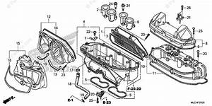 Honda Motorcycle 2018 Oem Parts Diagram For Air Cleaner