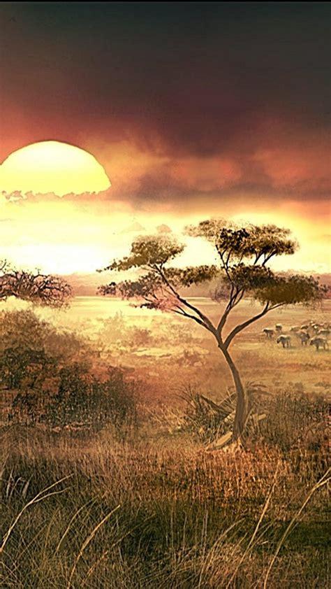 sunset landscapes nature african africa wallpaper
