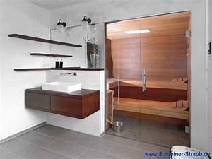 Kleine Sauna Fürs Badezimmer : einbausauna im bad schreiner straub ~ Lizthompson.info Haus und Dekorationen