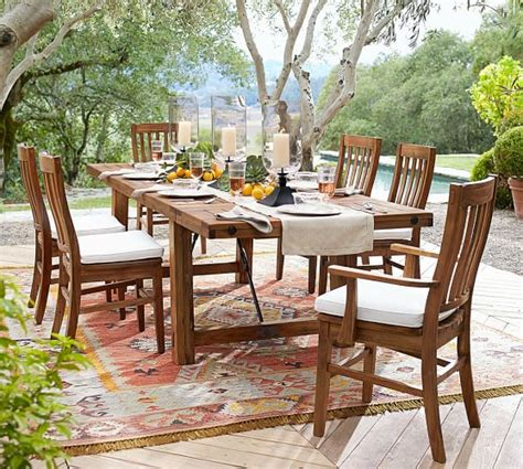 pottery barn ta pottery barn montego extending dining table home design