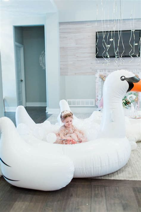 swan lake birthday party wedding party ideas
