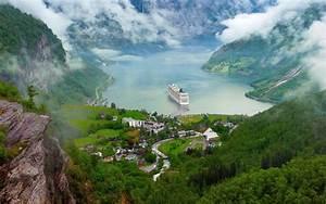 Norway, Nature, Landscape, River, Lake, Ship, Cruise, Ship