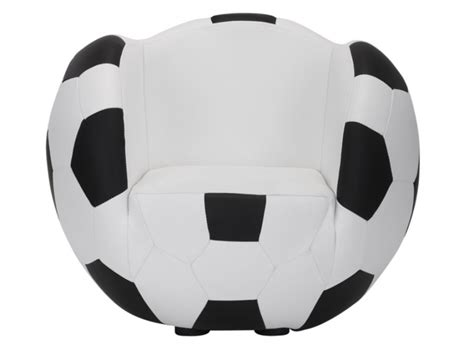 Poltrona E Pouf Per Bambini In Similpelle Footy