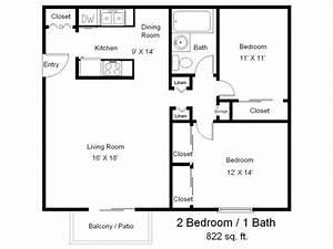 One Bedroom One Bath Floor Plans