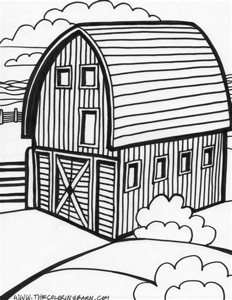 Farm Barn Coloring Pages