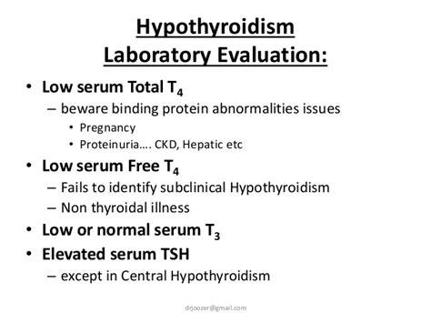 thyroxine t4 normal range hypothyroid