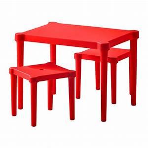 Table Enfant Exterieur : table pour enfant 2 tabourets rouge interieur exterieur ~ Melissatoandfro.com Idées de Décoration