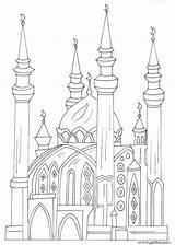 Coloring Mosque Printable Malvorlagen Kinder Moschee Minaret Ideen Masjid Ramadan Islam Buildings Architecture Islamische Recommande Cet Lecture Je Template Mosques sketch template