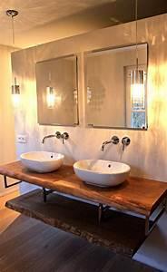 Waschtisch Holz Rustikal : holz waschtische waschtischplatten massiv auf ma holzwerk hamburg ~ Frokenaadalensverden.com Haus und Dekorationen